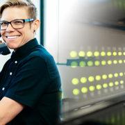 RWA staff member and server hardware