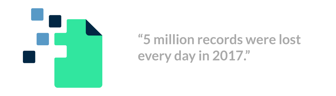 5 million records were lost every day in 2017