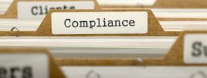 HIPAA Compliance Folders in Filing Cabinet