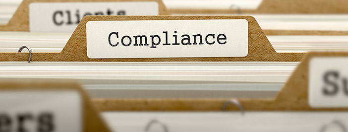 HIPAA Compliance Folders in Filing Cabinet