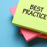 Sticky note that says security best practices
